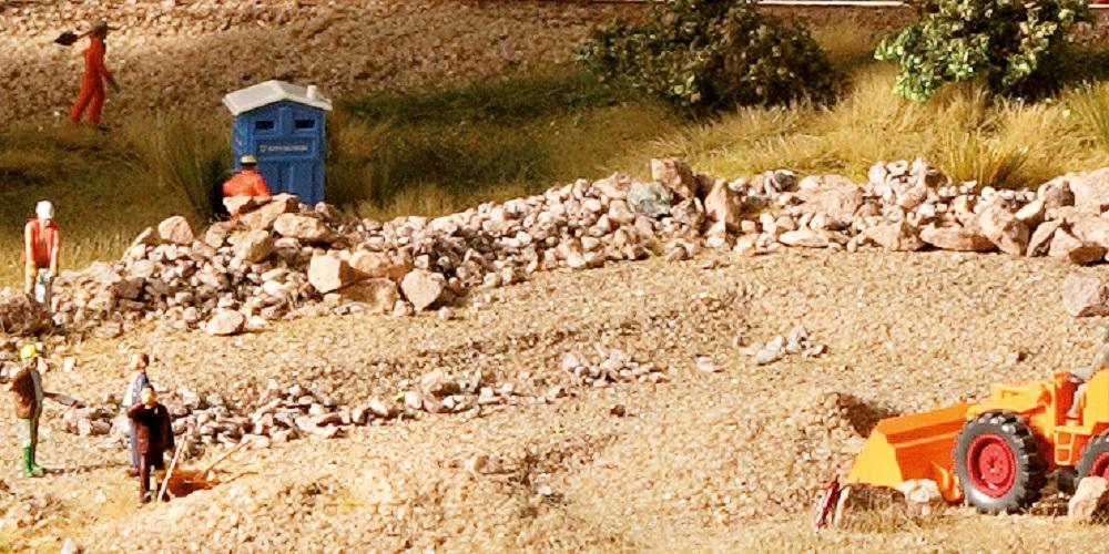 Grind, zand, stenen en kolen