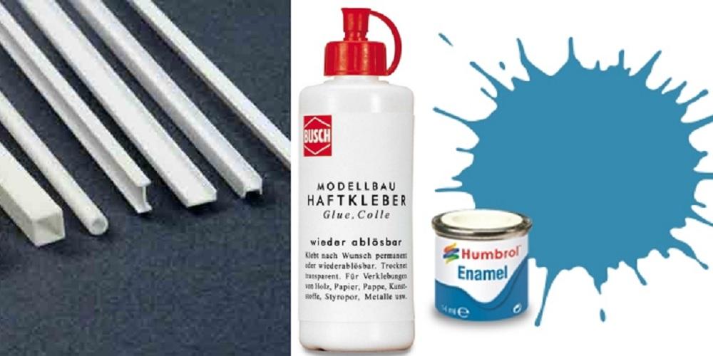 Hobbymaterialen, verf en lijm