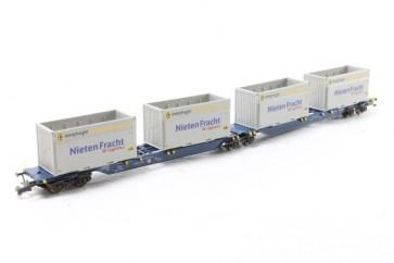 Hobbytrain H23718 9 - Containerdraagwagen DB OP=OP!