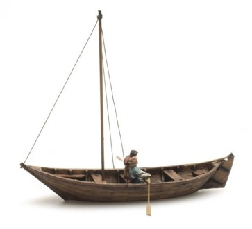 Artitec 10.334 - Roeiboot + 2 fig. 15e eeuw  kit 1:87