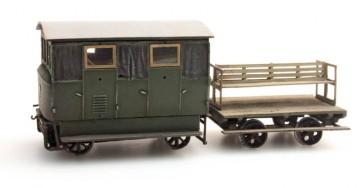 Artitec 20.180.01 - Draisine met aanhanger groen  train 1:87