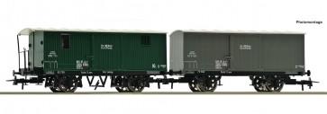 Roco 67172 - 2er Set ged.Güterw. KKSTB
