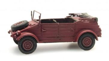 Artitec 387.238 - Kübelwagen VW 82 rood CIVIEL  ready 1:87