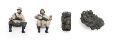 Artitec 387.254 - WM Kettenkradbesatzung (2 Fig) + Bepackung Winter  ready 1:87