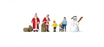 Preiser 79226 - 1:160 Kerstmannen, kinderen, sneeuwpop