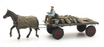 Artitec 387.276 - Kolenwagen met paard  ready 1:87