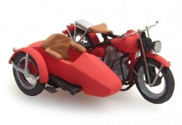 Artitec 387.29 - US Liberator motor red + sidecar  ready 1:87