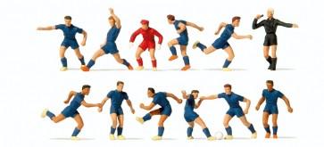 Preiser 10759 - 1:87 Voetbalteam donkerblauw shirt - donkerblauwe broek - sc