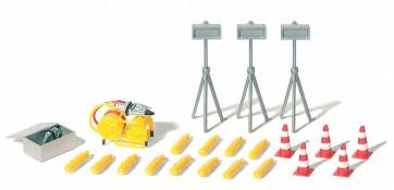 Preiser 31028 - 1:87 Aggregaat met accessoires