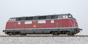 Esu 31331 - Diesellok, H0, V200, 220 021 DB, Altrot, Ep. IV, Vorbildzustand um 1975, LokSound, Raucherzeuger, DC/AC