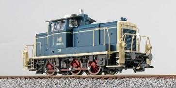 Esu 31411 - Diesellok, H0, BR V60, 260 269, Ozeanblau-Beige, DB Ep IV, Vorbildzustand um 1983,LokSound, Raucherzeuger, Rangierkupplung, DC/AC