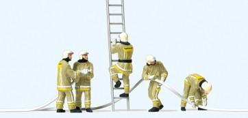 Preiser 10771 - 1:87 Brandweerlieden bij bluswerkzaamheden