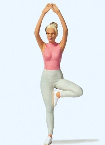 Preiser 45523 - 1:22,5 Vrouw tijdens yoga oefening
