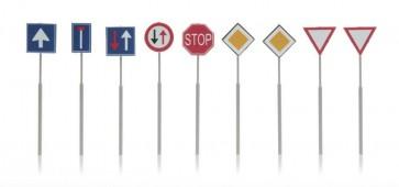 Artitec 316.047 - NL-verkeersborden: voorrang, richting 9 stuks  ready 1:160
