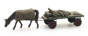 Artitec 316.051 - Kolenwagen met paard  ready 1:160