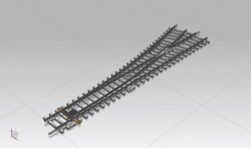 Piko 55170 - Weiche WL mit Betonschwellen