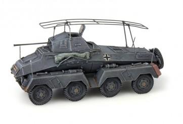 Artitec 387.72 GR - WM Sdkfz 232 Pz. Späh-Funkwagen 8-Rad  20mm Kanone grijs  ready 1:87