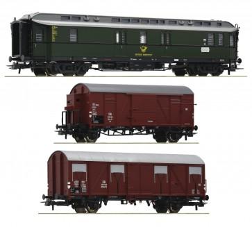 Roco 74091 - 3er Set Postzug DB