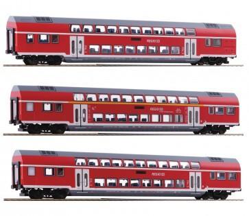 Roco 74137 - 3er Set Doppelstock DB AG