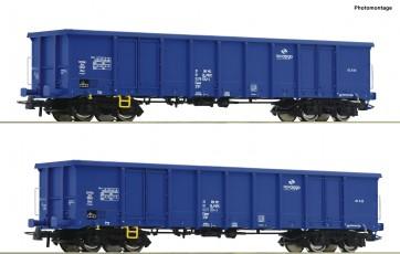 Roco 76044 - 2-tlg. Set: Offene Güterwagen, PKP Cargo