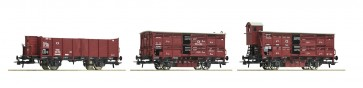 Roco 76060 - 3er Set Güterzug KPEV