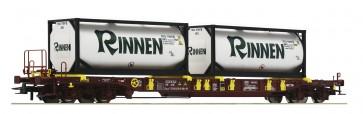 Roco 76225 - AAE-Draagwagen met Rinnen-containers NL