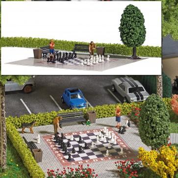 Busch 7839 - Action-Set: Gartenschach H0