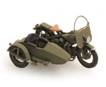 Artitec 387.80 - US Army motor met zijspan  ready 1:87