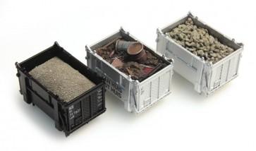 Artitec 487.801.01 - Set 1 Lading DAF-container: Bieten, Schroot, Zand  ready 1:87