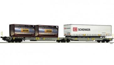 Fleischmann 825004 - Doppeltaschen-Gelenkwagen T2000, AAE