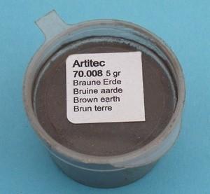 Artitec 70.008 - Bruine aarde (modelbouwpoeder)  ---