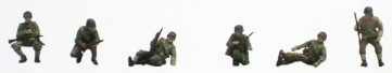Artitec 387.91 - US Infantry sitting on tank (6 fig.)  ready 1:87