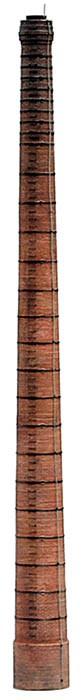 Artitec 10.249 - Fabrieksschoorsteen met ringen  kit 1:87