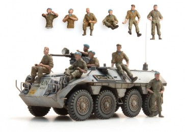 Artitec 387.163 - NL UNIFIL bemanning in rust  6 fig..   ready 1:87