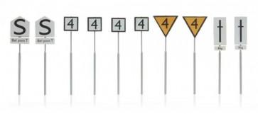 Artitec 387.211 - NS-borden: emplacementborden 10 stuks  ready 1:87