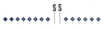 Artitec 387.213 - NS-borden: perron stopplaatsborden 16 stuks  ready 1:87