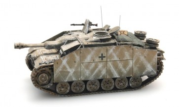 Artitec 387.50 WY - WM StuG III Ausf G Sturmhaubitze geel, winter  ready 1:87