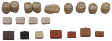 Artitec 387.58 - Perronlading koffers, kranten, postzakken  ready 1:87