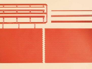 Auhagen 44630 - Ziegelmauern mit Zahnfriesvarianten