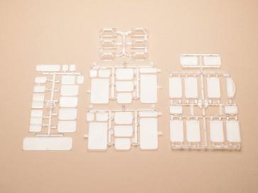 Auhagen 48251 - Fensterscheiben, Oberlichtfenster