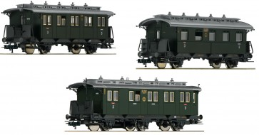 "Fleischmann 481804 - 3-tlg. Set ""Nebenbahn-Personenzug"" Teil 1, DRG"