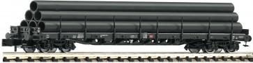 Fleischmann 826809 - Rungenwagen Bauart Rs 684 mit Röhrenbeladung, DB AG
