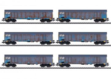 Marklin 47189 - Hochbordwagen-Set Ealnos NL