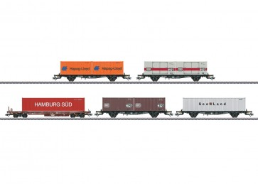 Marklin 47689 - Containertragwagen-Set DB