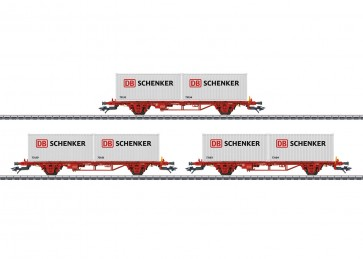 Marklin 47725 - Tragwagen-Set DB Schenker NO