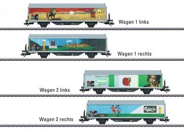 Marklin 48342 - Schiebewandwagen-Set SBB