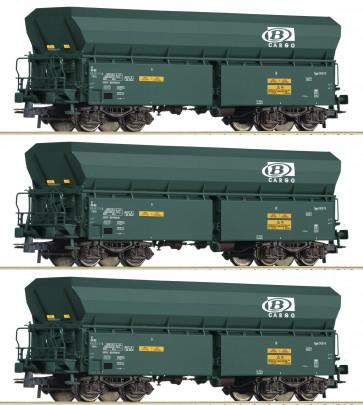 Roco 76132 - 3-tlg. Selbstentladewagen, SNCB