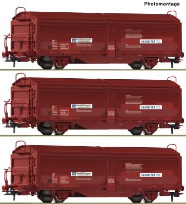 Roco 76169 - 3-tlg. Set: Schiebewandwagen, NSB