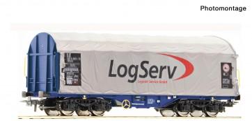 Roco 76451 - Schiebeplanenwag. Logserv