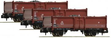 Fleischmann 820530 - 3-delige DB-kolenwagenset met kolenlading